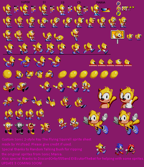 Ray (Sonic 2-Style)