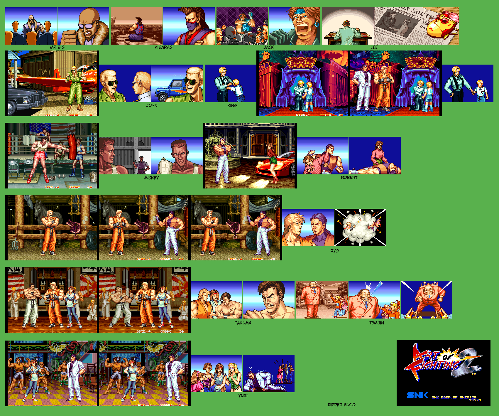 Art of Fighting 2 - Endings