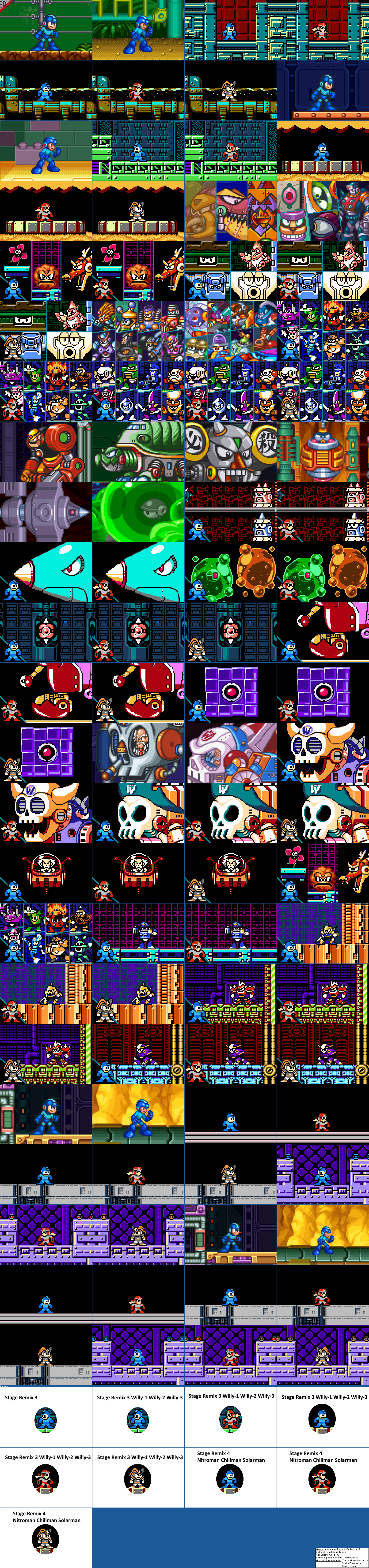 Mega Man Legacy Collection 2 - Challenge Icons