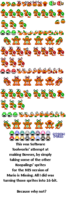 Bowser (Mario is Missing, SMW Style)