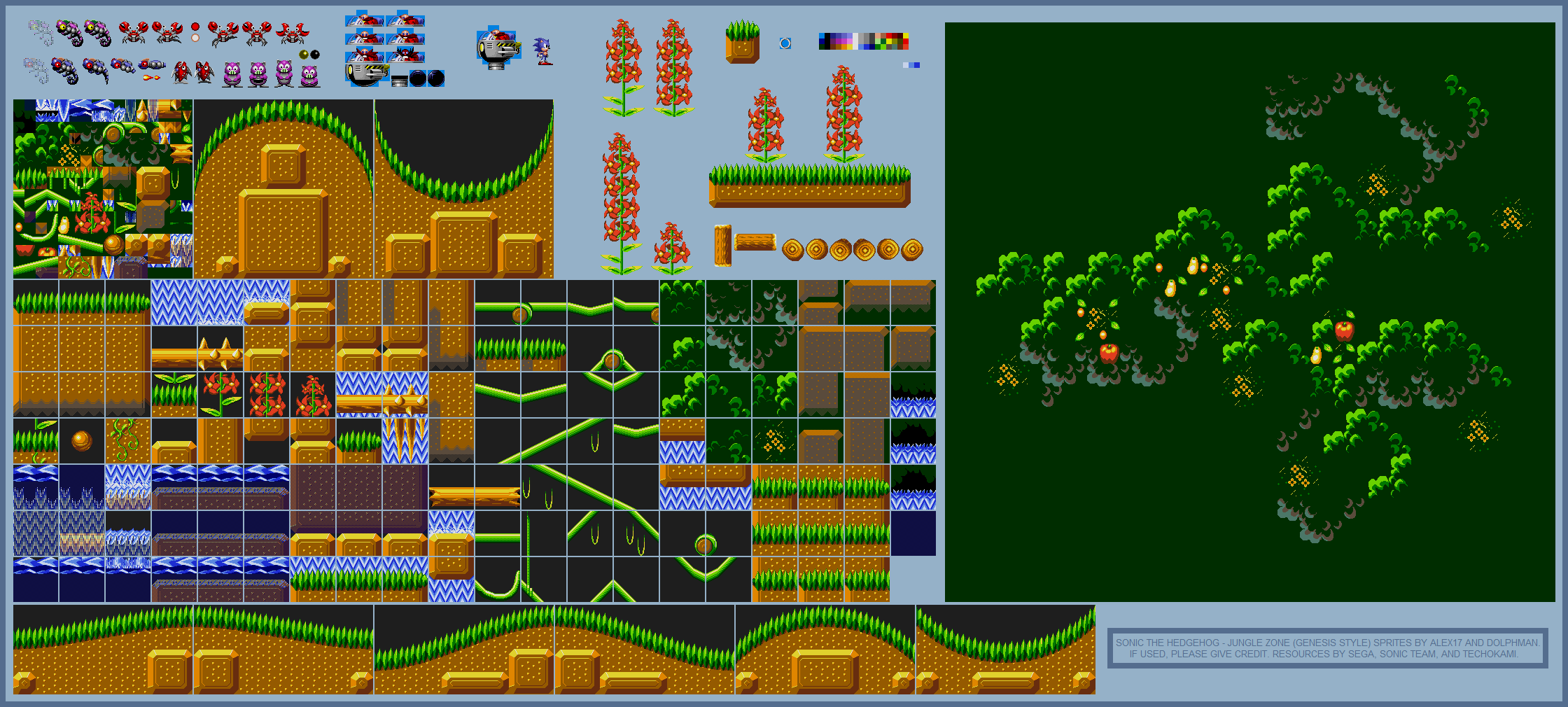 Jungle Zone (Sonic Genesis-Style)