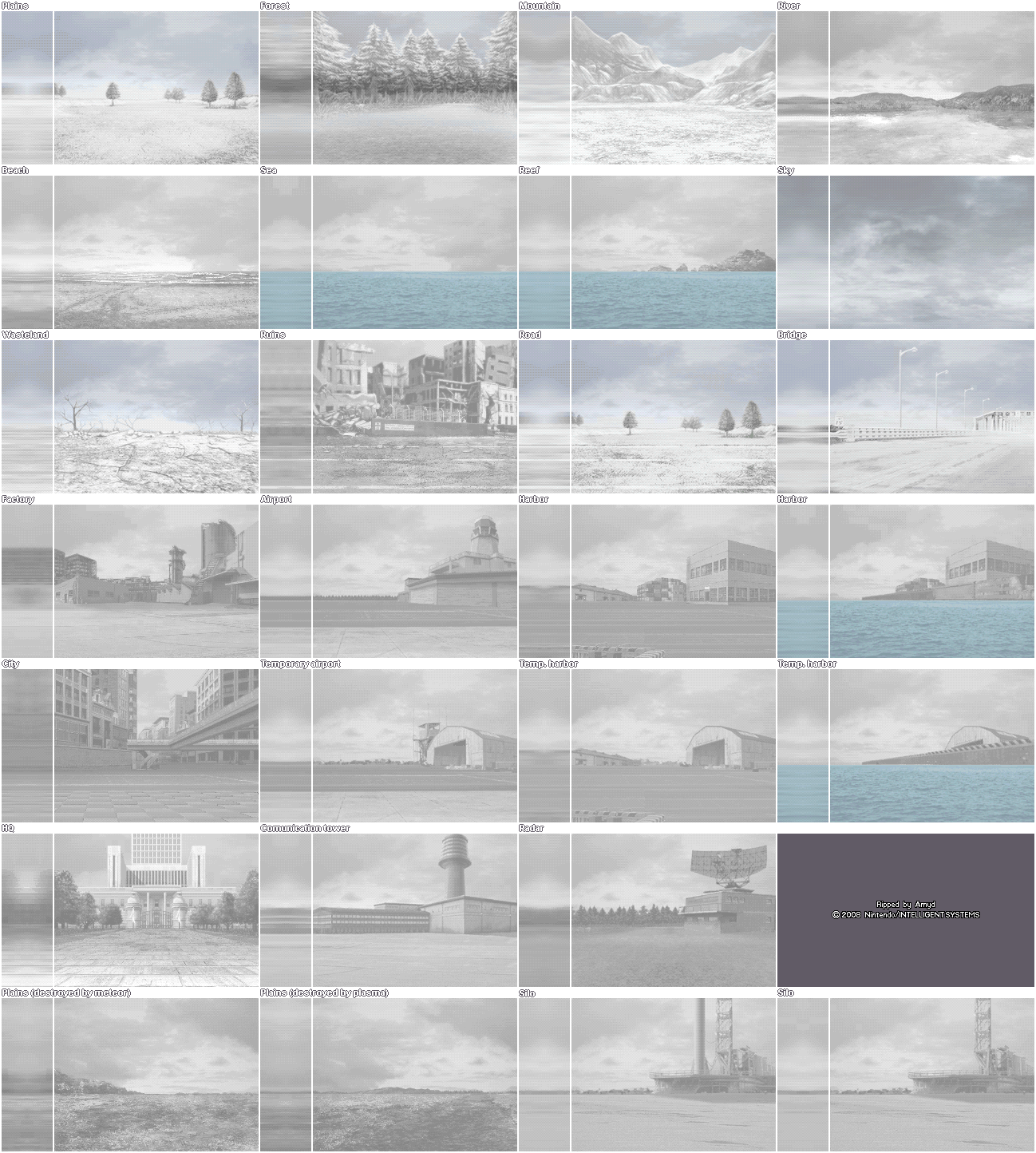 Battle Backgrounds (Snow)