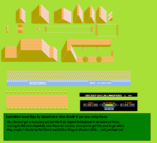 The Spriters Resource Full Sheet View Excitebike Excite Bike Track