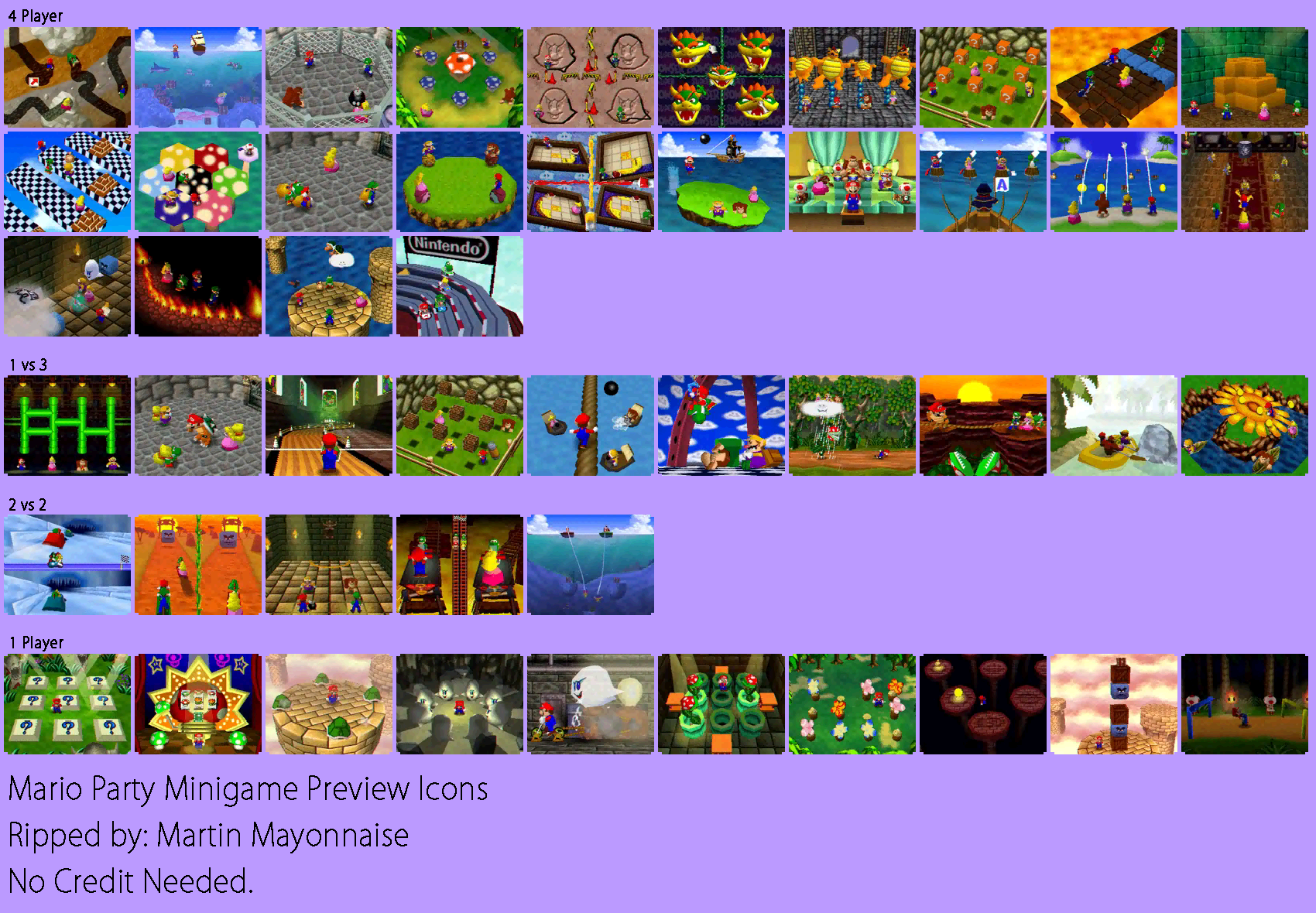 Minigame Preview Icons