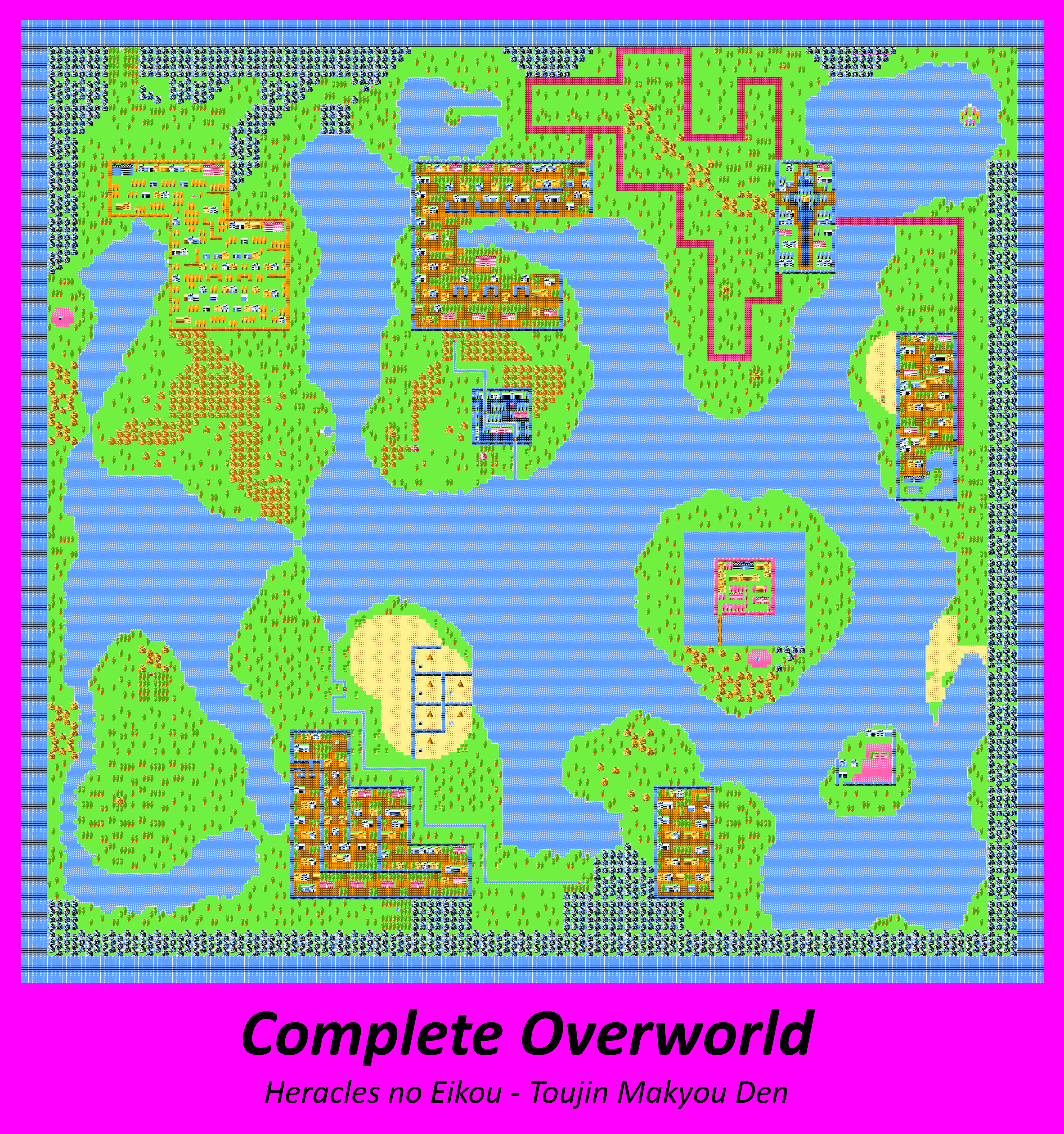 Heracles no Eikou (JPN) - Complete Overworld