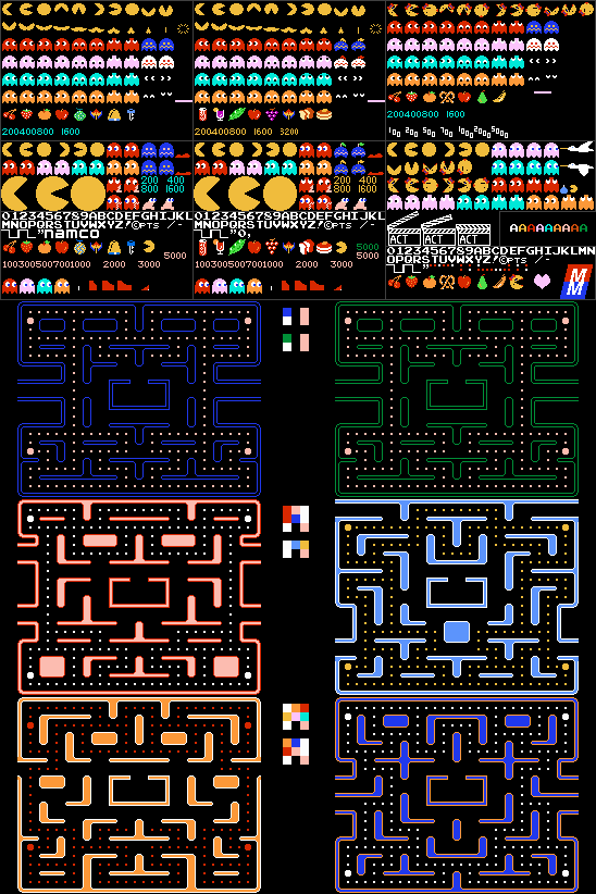 Pac-Man, Ms. Pac-Man, Pac-Man Plus (NES-Style)