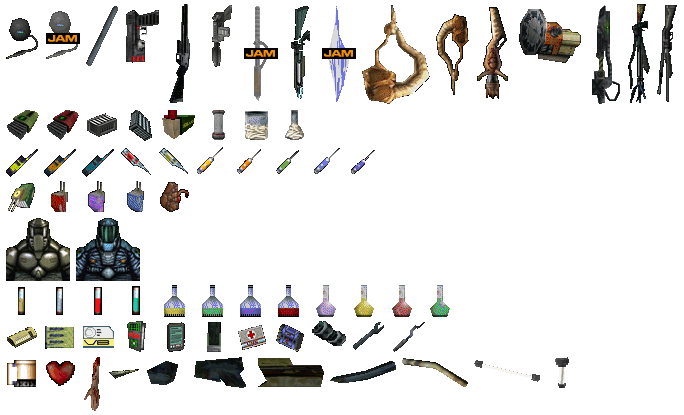Early / Unused Inventory Items