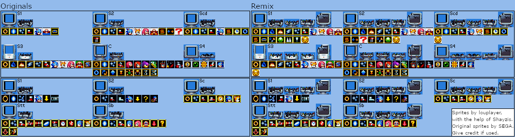 Monitors (Classic, Sonic Mania-Style)