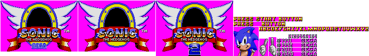Title Screen (Sonic 1 Master System, Genesis-Style)