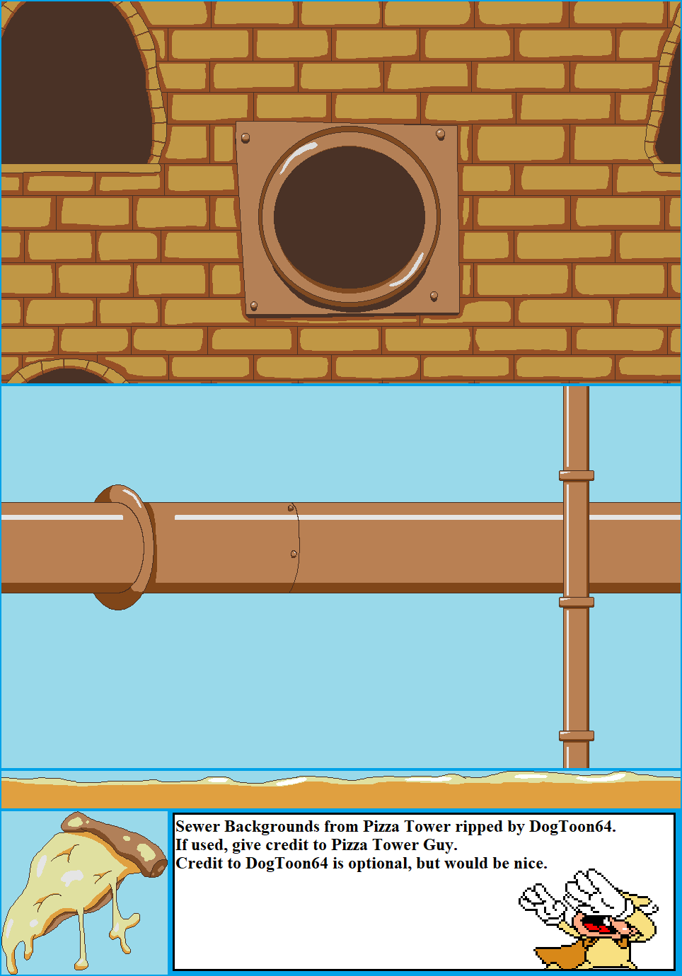 Pizza Tower (Demo) - Sewer Backgrounds
