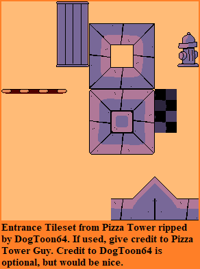 Pizza Tower (Demo) - Entrance Tileset