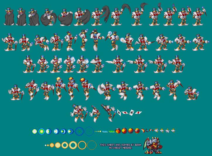 The Spriters Resource Full Sheet View Mega Man Bass Magic Man
