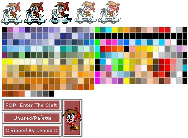 Game Boy Advance Fairly Oddparents Enter The Cleft Unused Sprites And Palette The