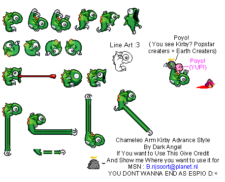 Chameleo Arm (Kirby Advance-Style)