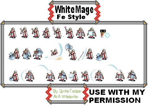 White Mage Sprite White Mage