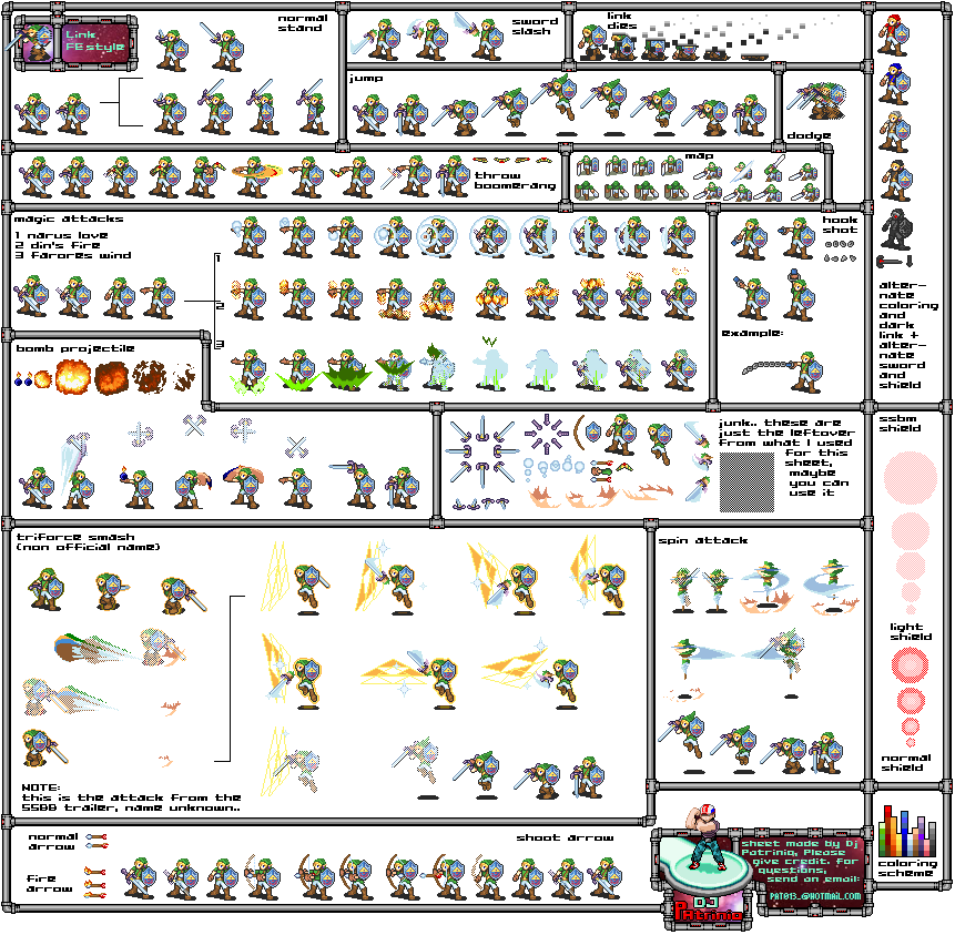 Custom Edited The Legend Of Zelda Customs Link Fire Emblem Gba Style The Spriters Resource