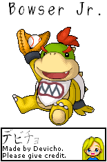 Bowser Jr. (Pixel Art)