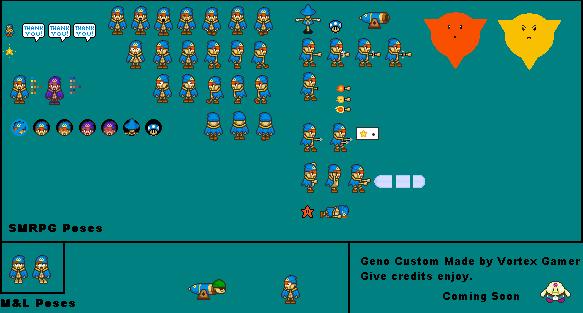 Custom Edited Super Mario Rpg Customs Geno The