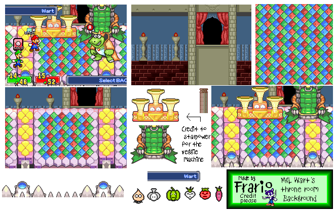 Wart Throne (Mario & Luigi: Superstar Saga-Style)