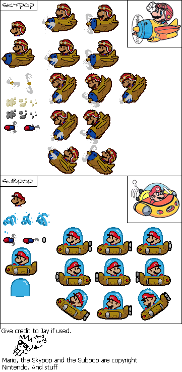 Sky Pop and Marine Pop (Paper Mario-Style)