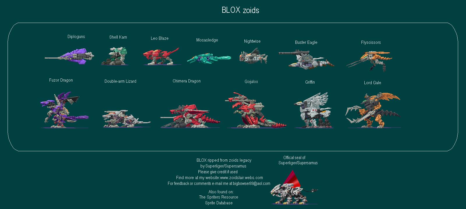 Game Boy Advance Zoids Legacy Blox Fuzors The Spriters Resource
