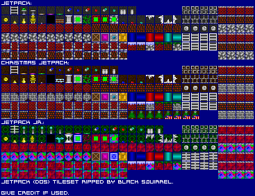 Pc Computer Jetpack Tileset The Spriters Resource