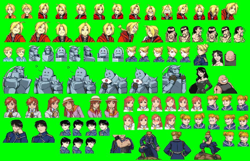 The Spriters Resource Full Sheet View Fullmetal Alchemist Omoide No Sonata Mugshots Set 2