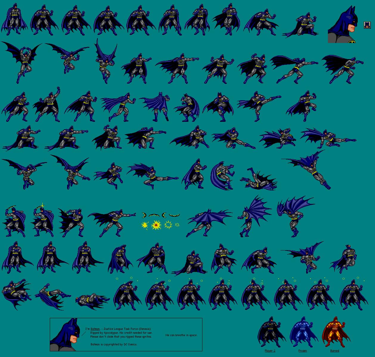 Genesis 32x Scd Justice League Task Force Batman
