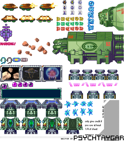 Game Boy Advance Metroid Fusion General Sprites The