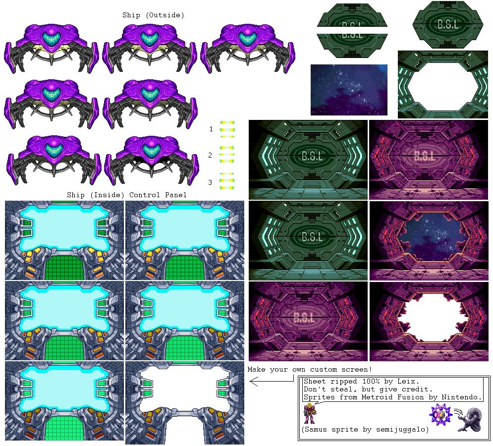 game boy advance - metroid fusion - samus u0026 39  ship