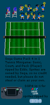 Sonic and Tennis Minigame