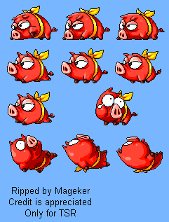 Red Ribbon Pig