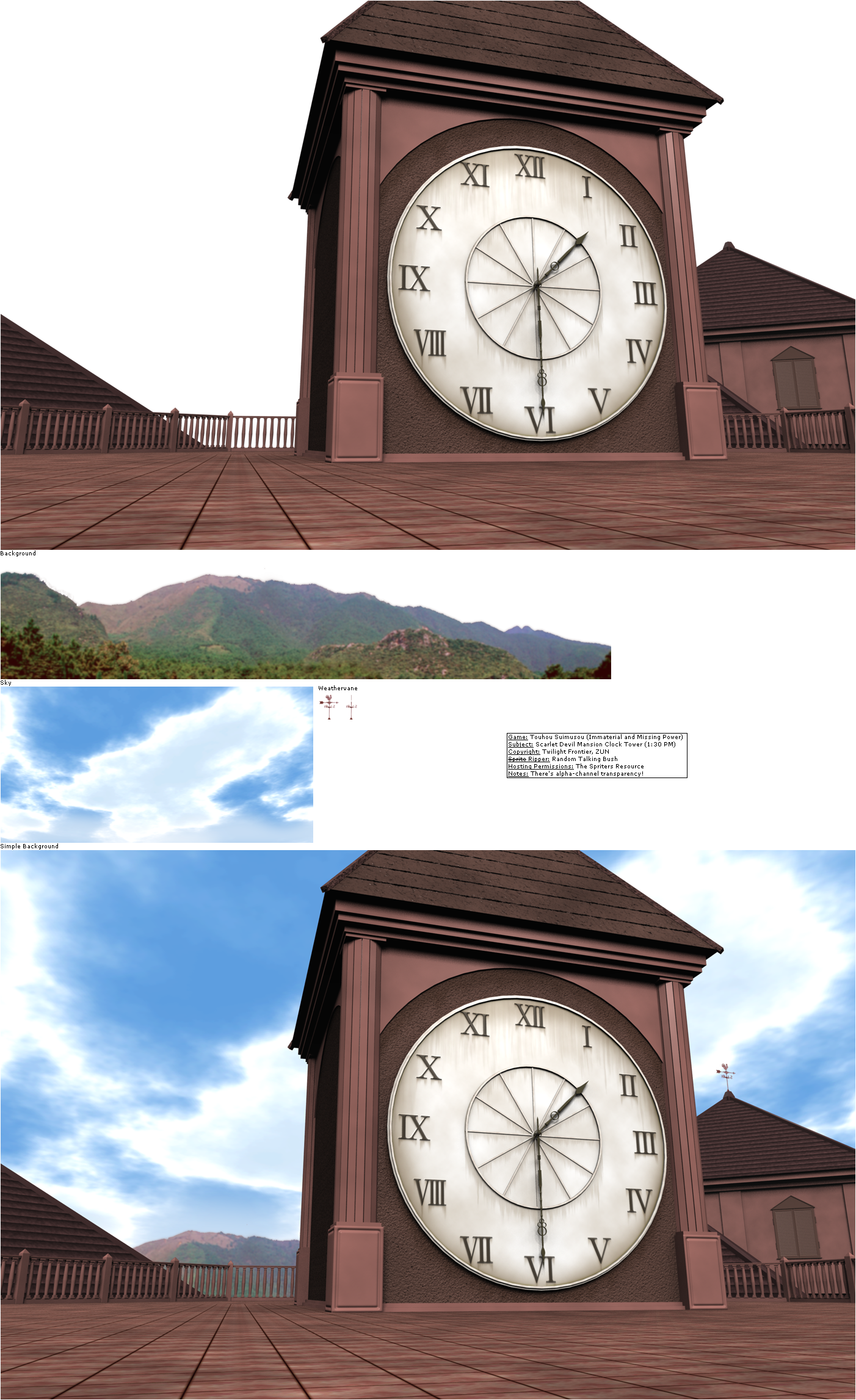 Scarlet Devil Mansion Clock Tower (01:30 PM)