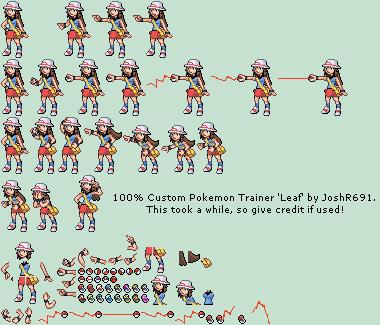 Custom Edited Pokemon Series Leaf The Spriters Resource
