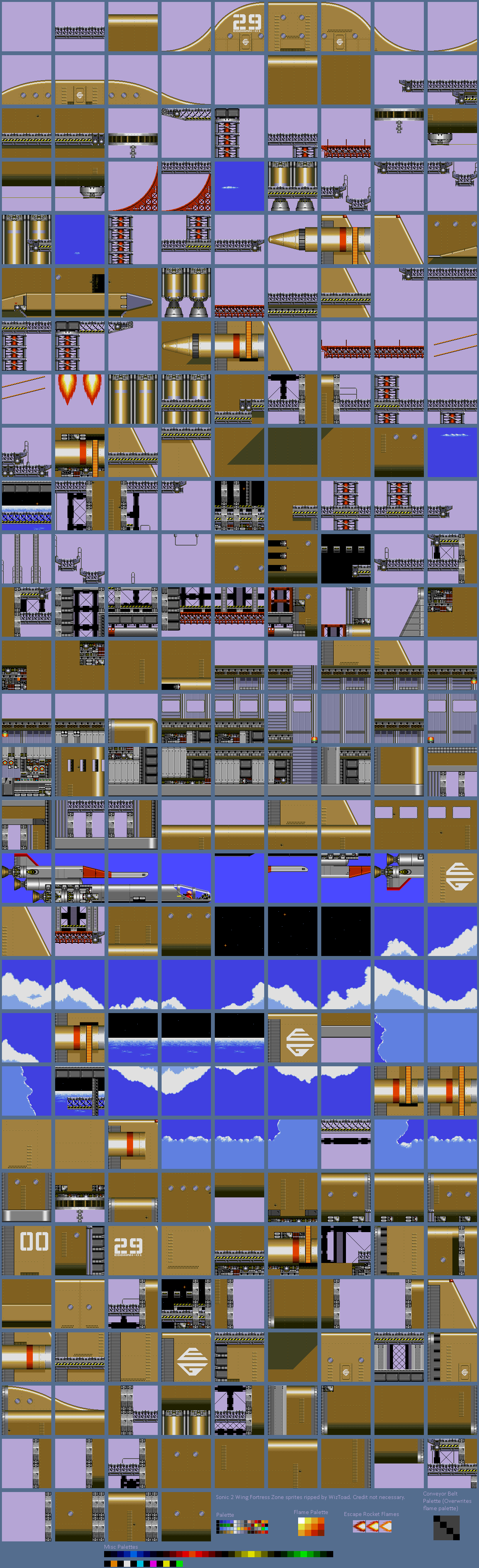 Sonic the Hedgehog 2 - Wing Fortress Zone