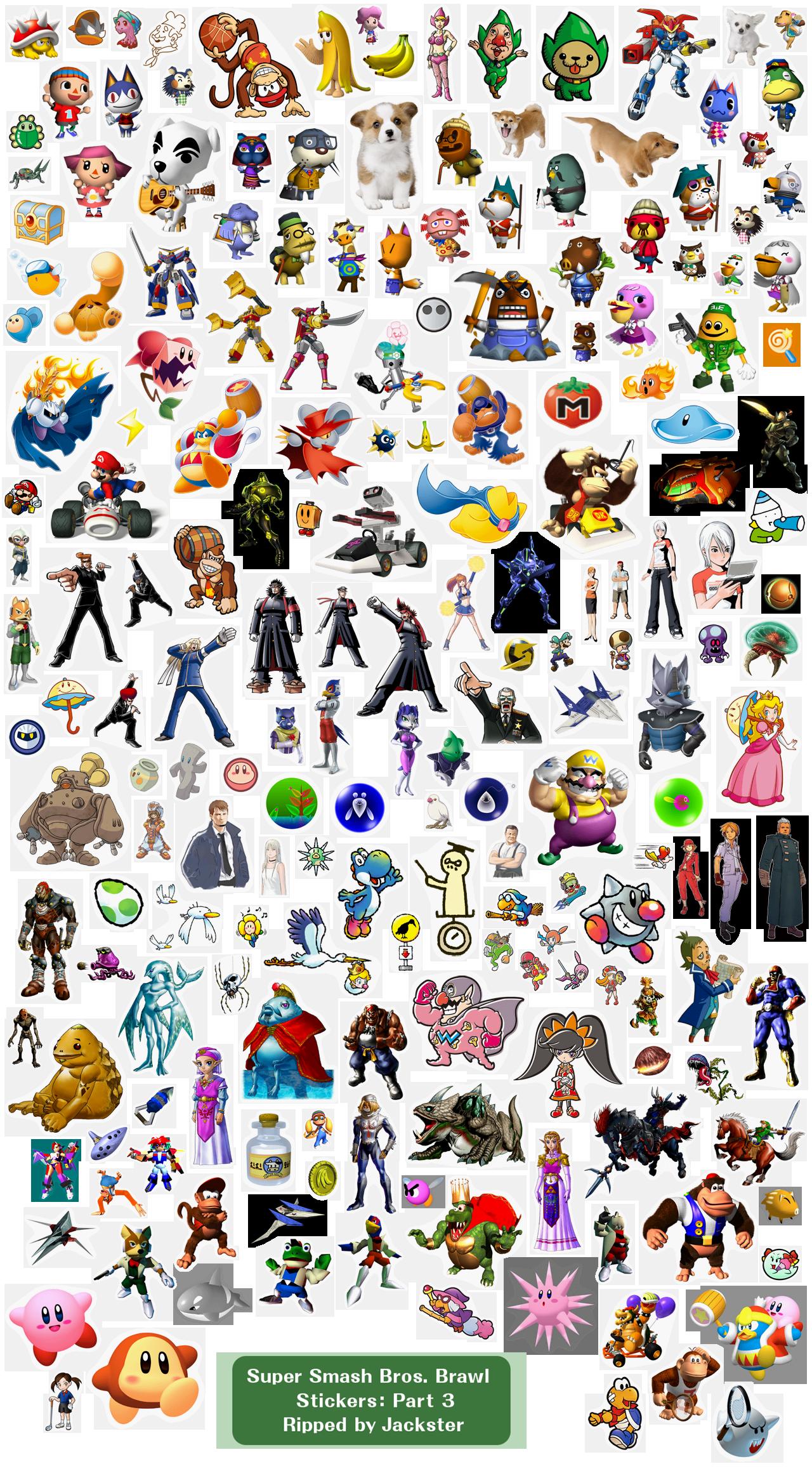 How to get all stickers? - Super Smash Bros. Brawl Forum ...