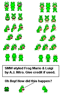 Frog Luigi (Super Mario World-Style)
