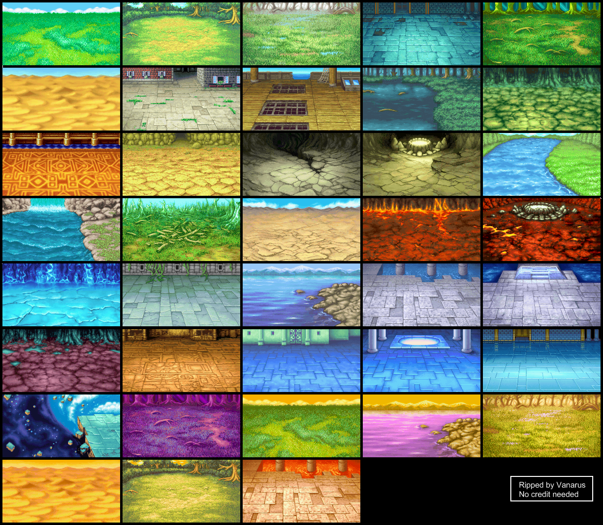 Game Boy Advance Final Fantasy 1 Dawn Of Souls Battle Backgrounds The Spriters Resource