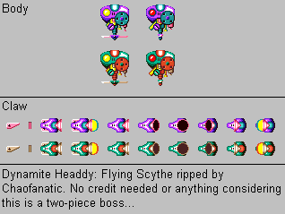 Dynamite Headdy - Flying Scythe