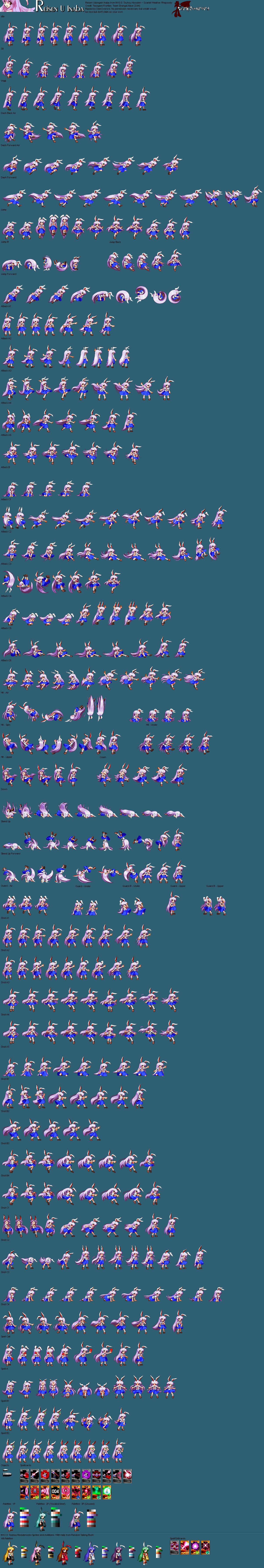 the spriters resource full sheet view touhou