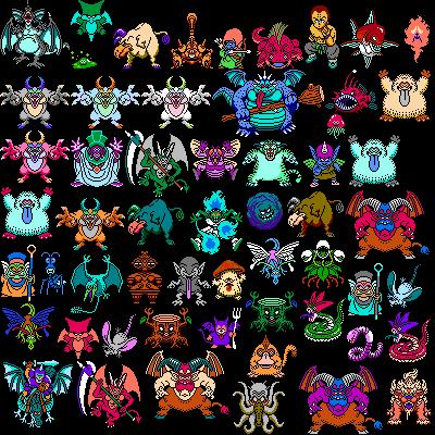 Nes Dragon Warrior 4 Monsters 1 The Spriters Resource
