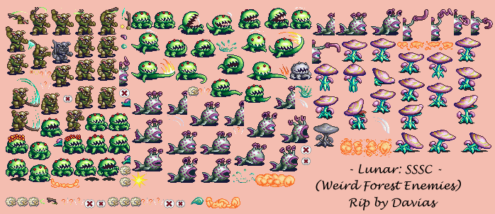 Weird Forest Enemies
