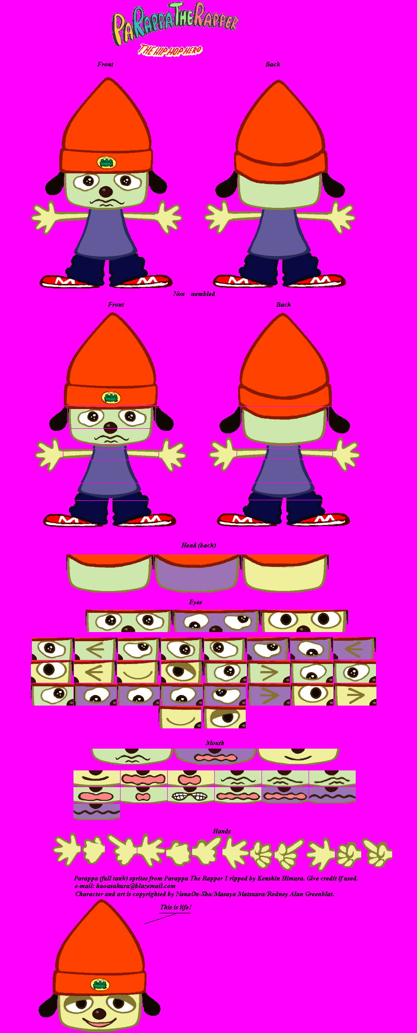 PaRappa the Rapper - PaRappa (Full Tank)