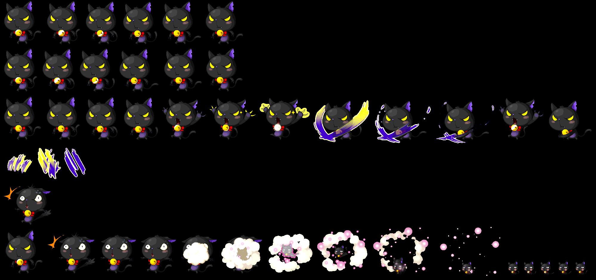 Maplestory Black Cat Plush