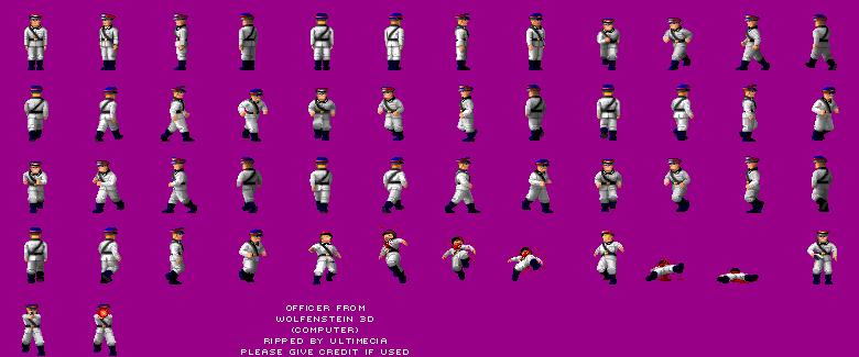 Pc Computer Wolfenstein 3d Officer The Spriters