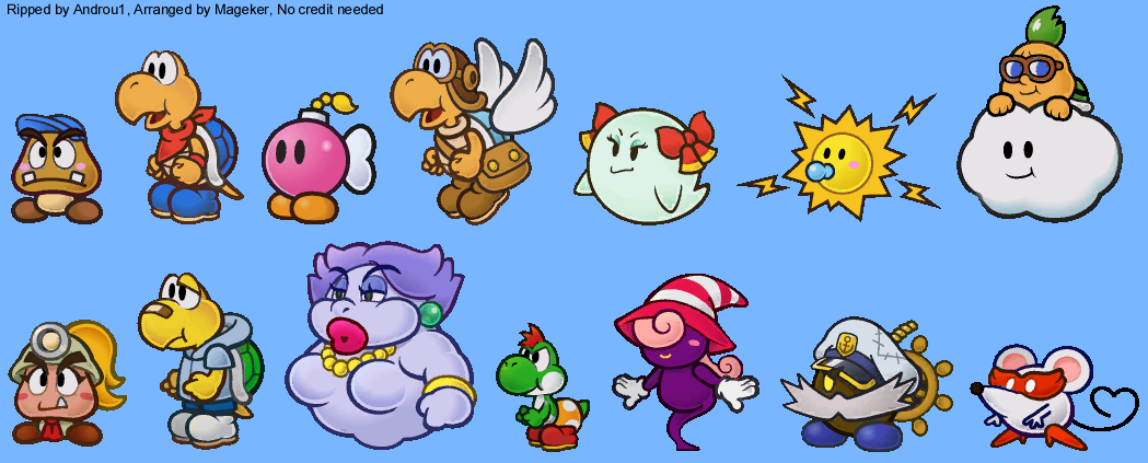 wii super paper mario partners the spriters resource