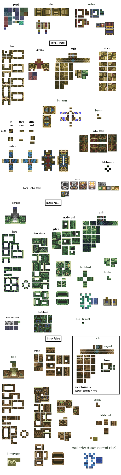 16X16 Tileset a guide to the zelda alttp art-style (tiling) - oot 2d forums