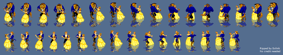 The Spriters Resource Full Sheet View Beauty And The Beast Belle S Quest Dance