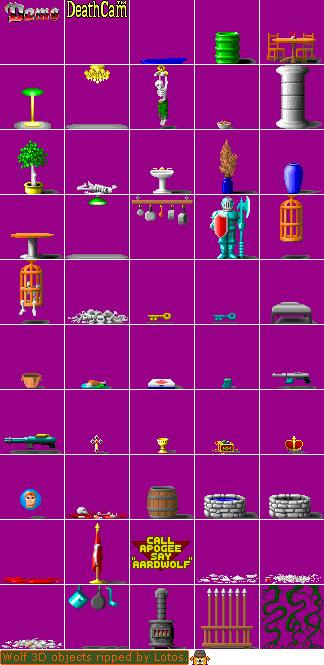 Pc Computer Wolfenstein 3d Objects The Spriters