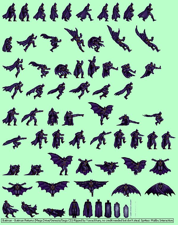Genesis 32x Scd Batman Returns Batman The Spriters Resource